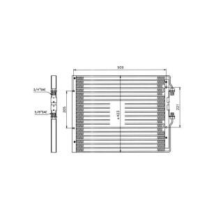 533770202 kondensator klimaanlage passend f r iveco eur. Black Bedroom Furniture Sets. Home Design Ideas