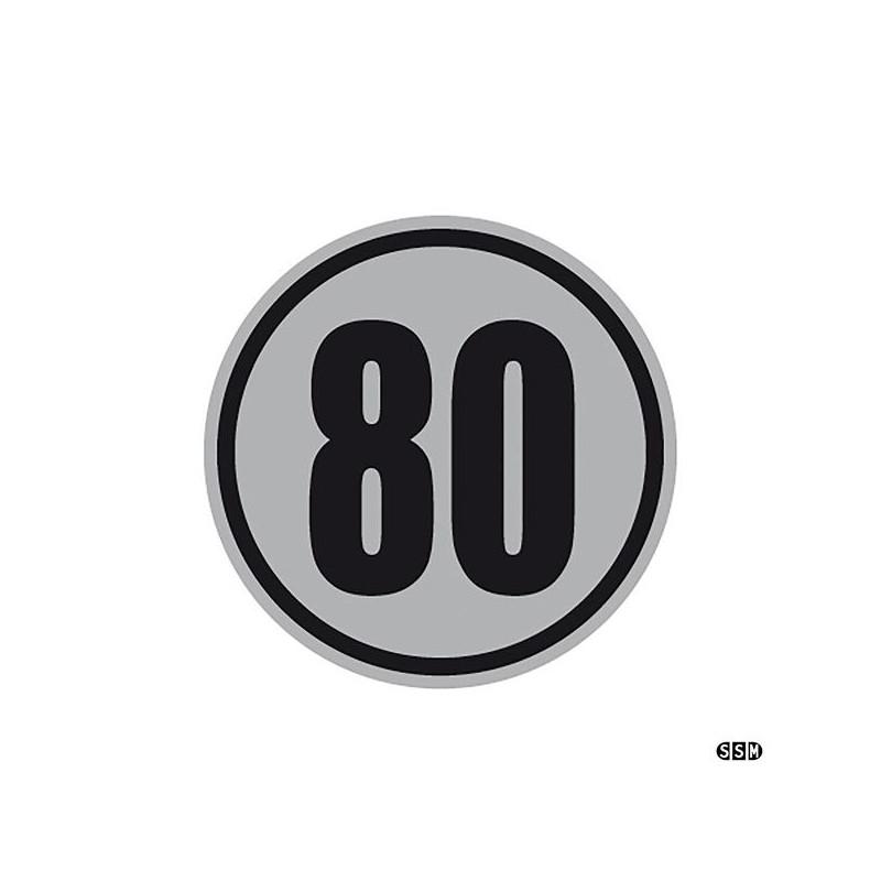 Geschwindigkeitsschild 80 km//h 80 kmh Schild aus Alu
